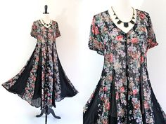 90s Sheer Floral Lace Boho Hippie Gypsy Indie by LuvStonedVintage, $40.00