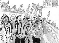 EPIC  #nychirl  action on the Brooklyn Bridge during  #WTCphotowalk    Awesome to see +Plustastic gather us all together for some +H.I.R.L.-ventures!     Sweet comicbook in the making.. +Tim Clary !Tim Clary originally shared this post:NYC HIRL Envelope Art for Daniel Enloein Envelope Art  (3 photos)More photos from Tim Clary