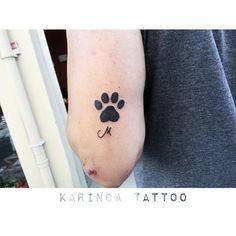 ''M'' and Paw  https://www.instagram.com/bahadircemtattoo/ #paw #pawtattoo #pati #dövme #tattoo #tattoos #cattattoo #kedidövmesi #kedi #kitty #smalltattoo #tattooideas
