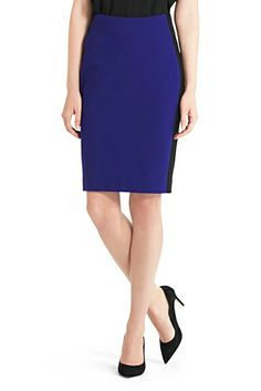 The seasonless Panel Marta pencil skirt with contrast detail is chic all year round. http://on.dvf.com/1eLkmXu