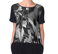 Shattered Time Zones Women's Chiffon Top