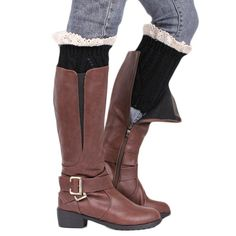 Ladies Knit boot Cuff with lace Ladies knit boot cuffs with lace edge #LadiesAccessories #WomenLegWarmers #WideLace