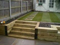 Image result for railway sleepers garden design