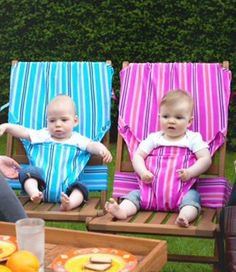 DIY portable fabric high chairs-Angie and I need to try this!