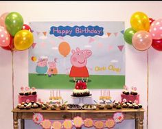 Peppa pig Birthday  Peppa Pig Backdrop  Peppa pig Banner