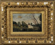 French or American School, 19th Century      Barbizon Landscape