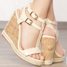 Shoes woman beige elasthomère heels 12 cm size 38, on line shop Modatoi. buy shoes on website modatoi.co.uk.