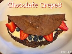 chocolate protein crepes, Fixate, 21 day fix recipes, 21 day fix meal plan, healthy dessert, chocolate, bechbody, shakeology, clean eating, Autumn Calabrese, healthy dessert, fruit