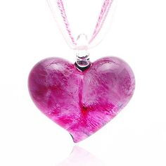 Chuvora Hand Blown Venetian Murano Glass Pendant Necklace Pink Heart Shaped Chuvora. $16.99. Weight: 16.5 g. Matching earrings and bracelet available. Search Amazon for ER0183PNK (Earrings) and BR0066PNK(Bracelet). Handmade (slight variations may be found from item to item). Packaging: Black Velvet Pouch. Length: 4 cm, Width: 3.5 cm. Save 58%!
