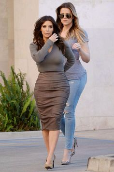 Kim and Khloe leaving Naimie's Beauty Center in Valley Village, CA