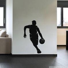Stickers de silhouettes et personnages - Sticker Silhouette basketteur | Ambiance-sticker.com