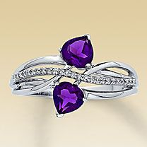 Purple hearts ring with Jess and Sarah's birthstone? yes.....<3