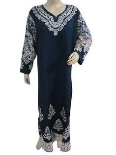 Womens Patio Dress Caftan Navy Blue Embroidered Bohemian Resort Dress Kaftan Long Maxi Dress Mogul Interior,http://www.amazon.com/dp/B00CKIFWAS/ref=cm_sw_r_pi_dp_z5YGrb2838F94C83