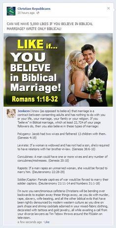 """Biblical Marriage"":"