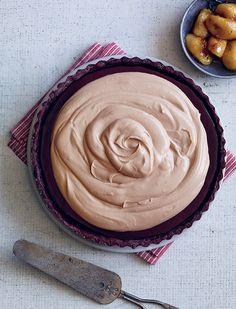 Dessert Professional | The Magazine Online - Roasted Banana Marmalade Chocolate Tart