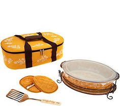 Temp Tations Floral Lace Loaf Pan With Ceramic Drip Tray