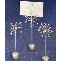 These are perfect little sign holders if you are going for a snowy feel.