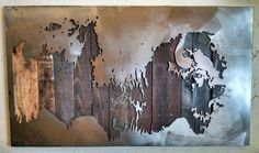 American Bison Metal Art Reclaimed Wood and Aged by bohlbros
