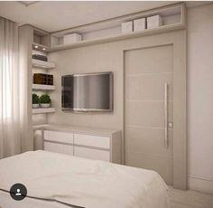 ~ Home decoration ~ Home Bedroom, Master Bedroom, Bedroom Decor, Bedrooms, Small Apartments, Small Spaces, Suites, Double Bedroom, New Room