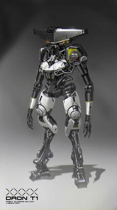 robot t1, B S on ArtStation at https://www.artstation.com/artwork/65GXV