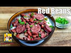 Learn how to make cajun red beans and rice in the crockpot for a set and forget dinner recipe idea. Quick and easy meal for lunch or parties. Cajun Recipes, Bean Recipes, Rice Recipes, Vegetable Recipes, Dinner Recipes, Sausage Recipes, Soup Recipes, Red Beans And Rice Recipe Crockpot, Red Bean And Rice Recipe
