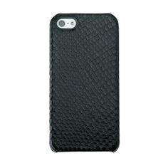 Graphic Image   Black Embossed Python Leather   iPhone 5 Hard-Shell Case