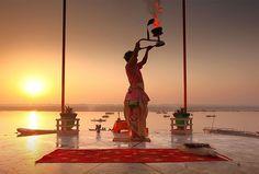 Morning Ceremony at Ganga River