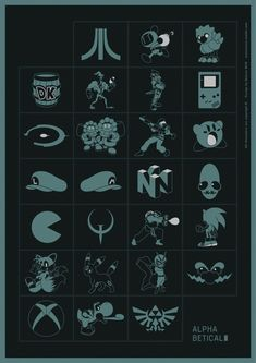 AlphaBetical by Maicon Costa. The alphabet in video games!