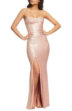 New Dress the Population Ellen Strapless Sequin Evening Dress. womens fashion dresses from top store Sequin Evening Dresses, Evening Dresses Online, Gowns Online, Formal Dresses, Dress Online, Formal Wear, Sequin Midi Dress, Dress The Population, Strapless Gown