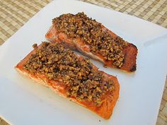 Cheese Please: Grilled Salmon with Hazelnut Butter