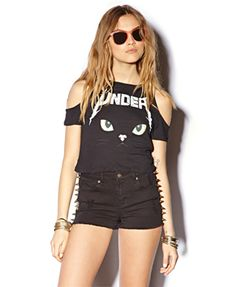 Meow Face Crop Top $17.80 (Forever 21)