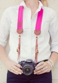 Fuchsia Camera Strap