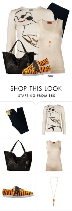"""""""Bird Knit Jumper"""" by talvadh ❤ liked on Polyvore featuring Big Star, Stine Goya, Frye, Missoni, Twins For Peace and Kendra Scott"""