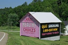 The second Pink Cancer awareness barn in West Virginia, that I know of to date....Located in Wirt County/West Virginia...6/23/2013