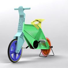 bicycle from recycled pastic. Want it, love it.