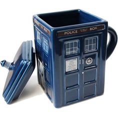 This could also double as a cookie jar :: Creative House Design Handled Doctor Who Tardis Coffee Tea Cup #mug