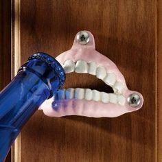 False Teeth Cast Iron Bottle Opener
