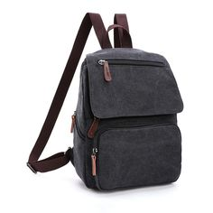 Toupons Small Canvas Backpack for Gilrs