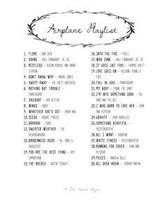 Airplane Playlist