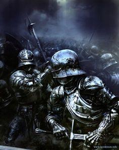 Knights in battle