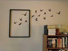 Kuş Figürlü Boş Çerçeve Duvar Dekoru
