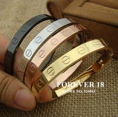 Homens e mulheres de aço titânio zircônio parafuso pulseira de titânio pulseira love prata/ouro/rosa de ouro