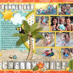 Summer-Fun11 multi-picture layouts are awesome... make this a two page spread for even more pictures or bigger pictures!