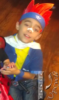 Upcycled Beyblade Gingka Halloween costume for your son ~ Viral Upcycle