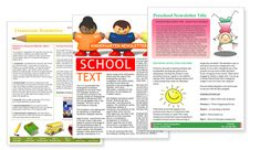 Learning Center and Elementary School Newsletter Design Template ...