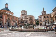 Plaza de la Virgen, Valencia, Espaňa