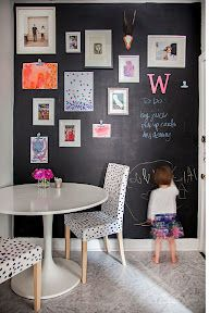 DIY: paint a wall with chalkboard paint and have kids create masterpieces on them!