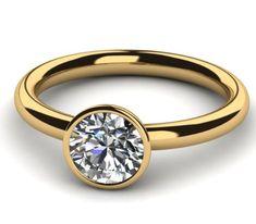 Diamantring 0.50 Karat Solitär in 585er Gelbgold. Ein Diamantring von www.juwelierhausabt.de