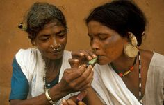 Tribal ladies of orissa smoke ganja