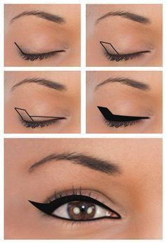 Mini Guide On Eyeliner for various . - Mini Guide On Eyeliner for different eye shapes explained in 9 ways make up - Eyeliner For Downturned Eyes, Eyeliner For Hooded Eyes, Winged Eyeliner Tutorial, How To Apply Eyeliner, Winged Liner, Hooded Lids, Dramatic Eyeliner, Dramatic Hair, Eyeliner For Eye Shape